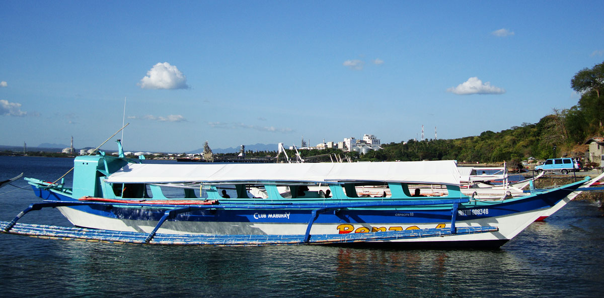 getting to puerto galera by private banca boat