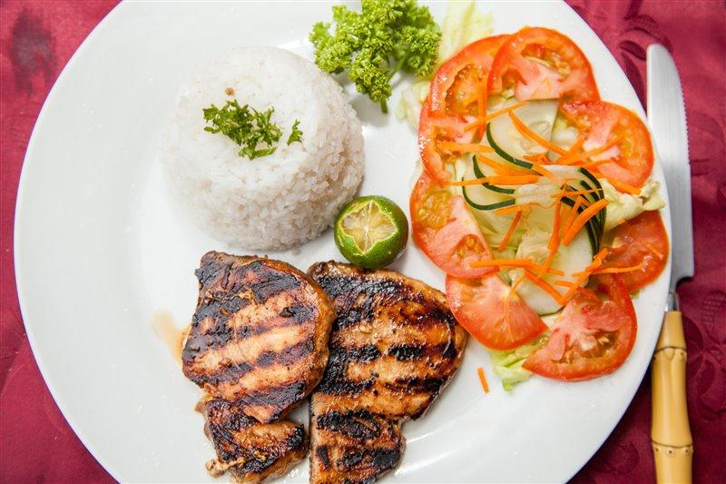 pork chops scandi divers resort restaurant